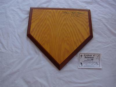 One Of A Kind Harmon Killebrew Autographed And Authenticated Home Plate