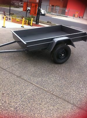 6x4 BOX TRAILER GREY COLOUR