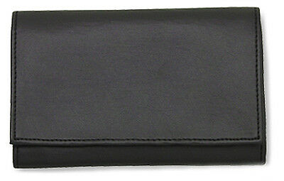 Black Vinyl Pipe Tobacco Roll Up Pouch w/Surgical Rubber Lining - 1187