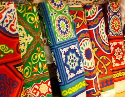 NEW 4 meters 13 feet (157 inch) EGYPTIAN TRADITIONAL COLORFUL TENT-DESIGN FABRIC