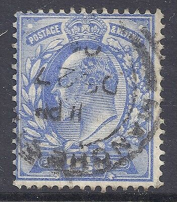 GB 1902-1910 SG231 KEVII 2½d PALE ULTRAMARINE FINE USED