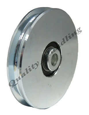 Gate wheel pulley wheel 100mm Round rope groove steel wheel for wire or rope