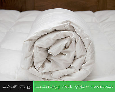 Premium Duck Feather And Down Duvet Quilt 10.5 Tog - Natural & Anti-Allergy
