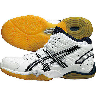 ASICS Japan Men's ROTE WD MID Volleyball Shoes TVR456 White Navy Blue