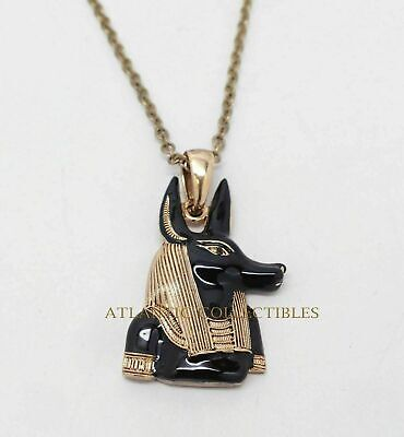 Ancient Egyptian Decorative Accessory Black Gold Color Anubis Jackal Necklace