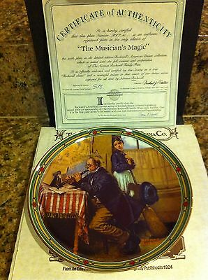 Edwin knowles the musician's magic china plate