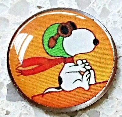 anneys ~ GOLF  BALL  MARKER - # snoopy the aviator #  ~