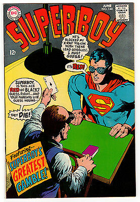 Superboy #148 9.0 White Pages Silver Age Superman