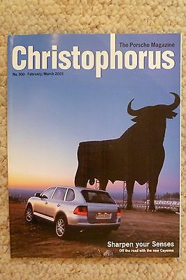 Porsche Christophorus Magazine English #300 February 2003 RARE!! Awesome L@@K