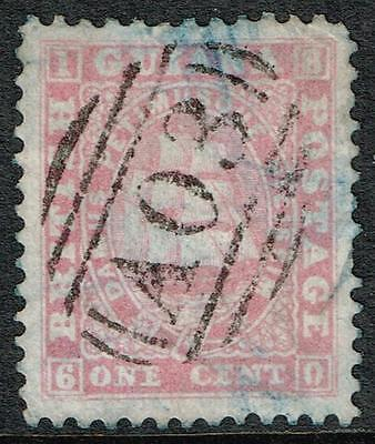 BRITISH GUIANA, 1860 1c pale rose (p12, thick paper), fine used, SG#29