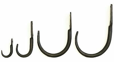 Large Black Wrought Iron Butcher's Meat Hooks - Rustic Kitchen Game & Beam Hook