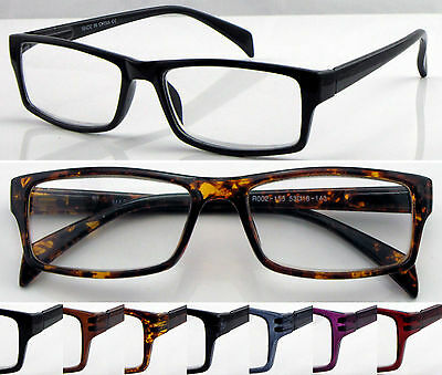 L155 Superb Reading Glasses/Spring Hinges/Classic Style/Simple Design Spectacles
