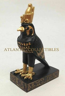 "Ancient Egyptian Decorative God Horus Falcon Sky Miniature 3.25""H Figure Statue"