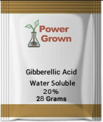Gibberellic Acid 20% 25 Grams Water Soluble Technical Grade Highest Quality