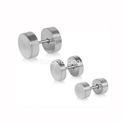 Dilatacion Falsa acero fake plug faux  CHEATER PLUG TUNNEL STRETCHER EARRINGS