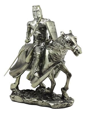 "Medieval Knight Decorative Figurine Horseman Statue 8.5"" Tall Axe Cavalry Charge"