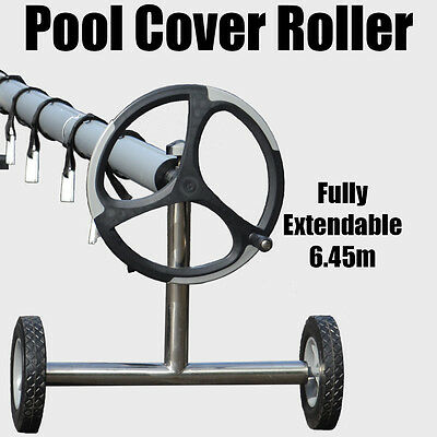 Roller Reel For Solar Swimming Pool Blanket Thermal Bubble Cover 4.92m to 6.45m