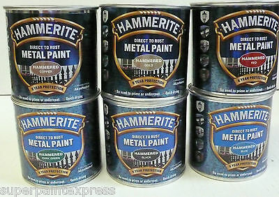 Hammerite Hammered Metal Paint 250ml  All Colours Available COLOUR
