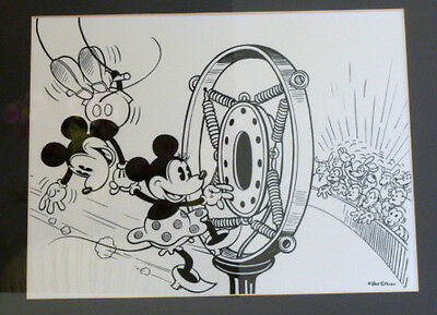 RARE Disney Mickey and Minnie Mouse Model Sheet Framed