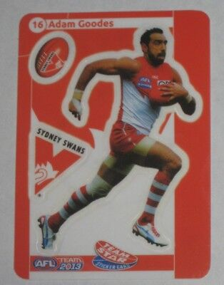 2013 Teamcoach Star sticker #16 Adam Goodes - Sydney Swans