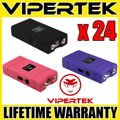 (24) VIPERTEK VTS-880 Mini Stun Gun 3 Colors Mix - Wholesale Lot