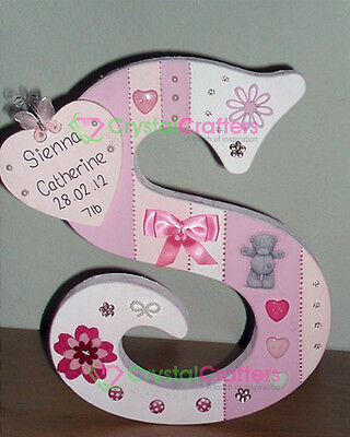 Personalised Freestanding wooden letters. 18cm high boy or girl christening gift