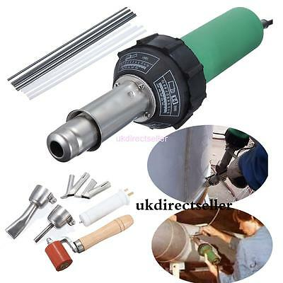 Hot Air Torch Plastic Welding Gun Welder Pistol 1500W+ 4 Speed Nozzles + Roller