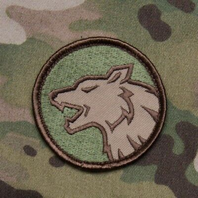 MilSpec Angry Wolf Head Multicam USA Tactical Military Army Morale Patch