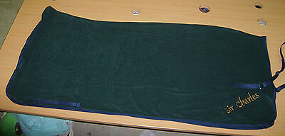 Horse Exercise or Quarter sheet FREE EMBROIDERY Choose your size Dark Green