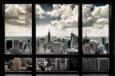 NEW YORK Window  Großes Poster 92x61 cm