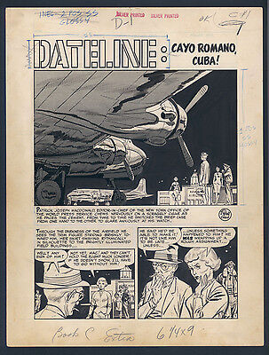 Johnny Craig - Beautiful Art ! 8 Page Ec Story ! Espionage