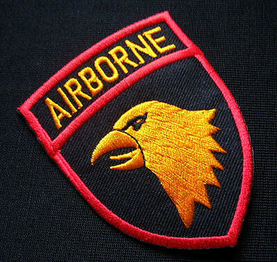 AIRBORNE DIVISION US MILITARY Embroidered Iron on Patch + Free Shipping