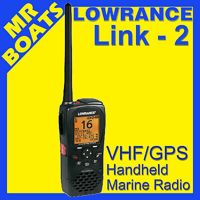 LOWRANCE LINK 2 VHF HANDHELD MARINE RADIO with GPS & DSC - AUSTRALIA MODEL- NEW