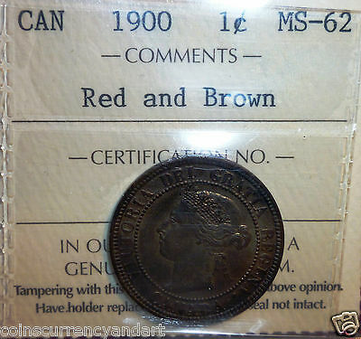 1900 One cent Canada beautiful high grade ICCS