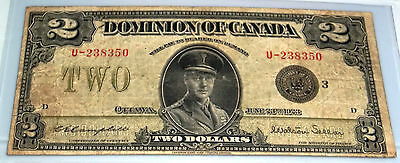 1923 $2 Dominion Of Canada  CAMPBELL -SELLAR Group 3