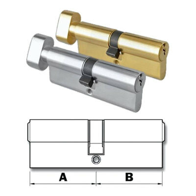 Euro Cylinder Thumb-Turn Locks Door Barrel ANTI-PICK ANTI-DRILL Cylinder Lock