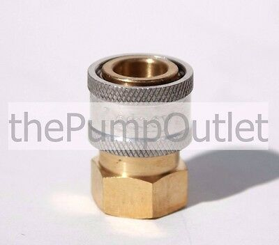 "1/4"" FPT x Female Socket Brass Pressure Washer Quick Connect Fitting .25"
