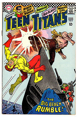 Teen Titans #9 9.2 Off-White Pages Silver Age Robin