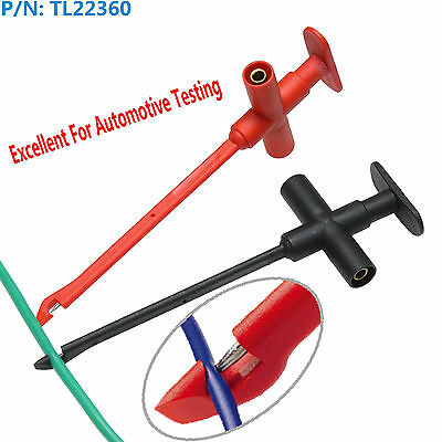 2x Piercing Cables Test Hook Test Probes to 4mm banana jack Multimeter car cable