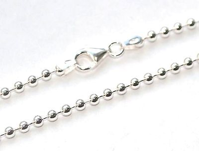 CP300 - GENUINE 925 STERLING SILVER BALL BEAD NECKLACE CHAIN - 3mm