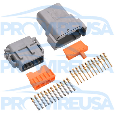 Deutsch DTM 12 Pin Connector Kit 22-18 AWG GOLD MOTEC