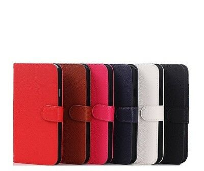 Pu Leather Wallet Flip Case For Samsung Galaxy Ace2 I8160+Free Screen Protector