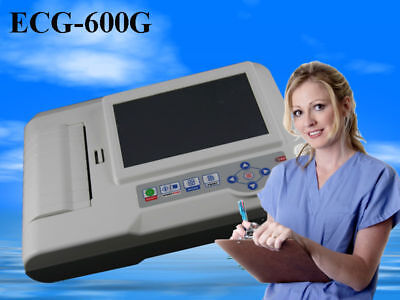 Digital Electrocardiograph 6 channel ECG machine Touch screen+ Software, ECG600G