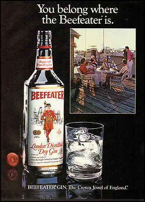 """1983 Vintage ad for BEEFEATER Gin """"The Crown Jewel of England"""" (060612)"""