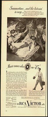 1951 Vintage ad for RCA Victora'45 phonograph (120612)