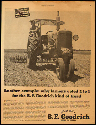 B.F. Goodrich Tractor Tires Vintage Ad 1950 (101311)