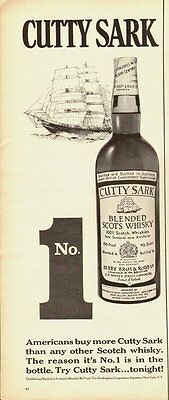 1967 Vintage ad for CUTTY SARK/Blended Scots Whisky/Sailboat (060513)