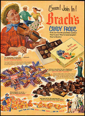 1952 Vintage Ad for Brach's Candy C'mon! Join In! Brach's Candy Frolic (021212)