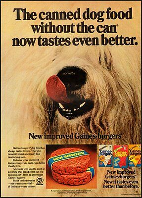 1977 Vintage ad for Gaines Burgers Dog Food  (061412)