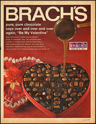 1968 Vintage ad for BRACH'S Valentine Candy (011213)